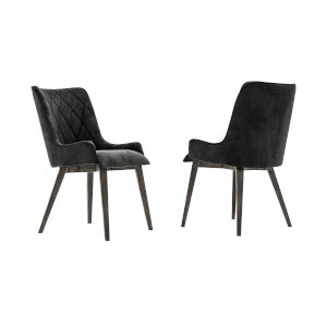 Alana Tundra Gray Dining Chair, Set of Two