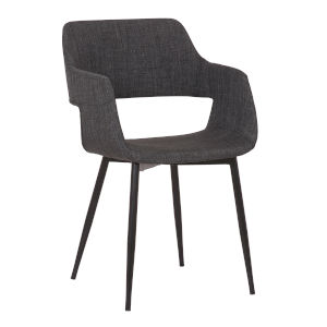 Ariana Gray with Black Powder Coat Dining Chair