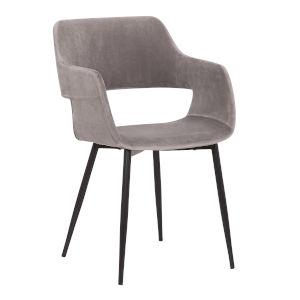 Ariana Charcoal with Black Powder Coat Dining Chair