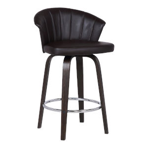 Ashley Brown and Chrome 26-Inch Counter Stool