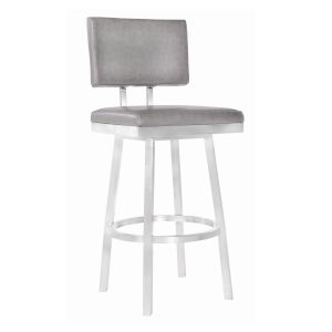 Balboa Vintage Gray and Stainless Steel 26-Inch Counter Stool