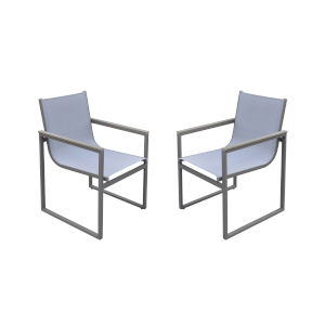 Bistro Gray Outdoor Patio Dining Chair