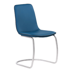 Brittany Blue with Brushed Stainless Steel Dining Chair, Set of Two