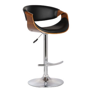 Butterfly Black and Walnut 33-Inch Bar Stool