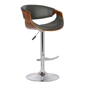 Butterfly Walnut and Gray 33-Inch Bar Stool