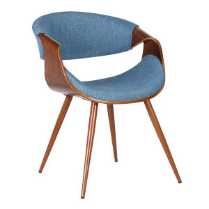 Butterfly Blue with Walnut Dining Chair