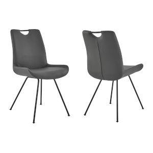Coronado Gray Powder Coat Dining Chair, Set of Two