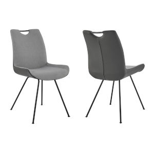 Coronado Pewter with Gray Powder Coat Dining Chair, Set of Two