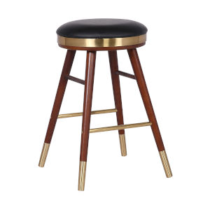 Clara Black and Gold 26-Inch Counter Stool