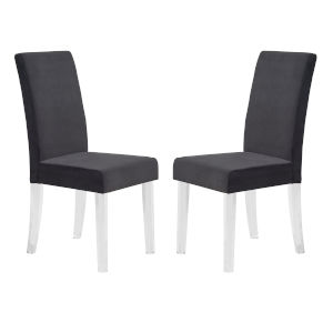 Dalia Black Dining Chair, Set of Two
