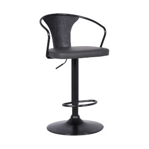 Eagle Gray and Black 32-Inch Bar Stool