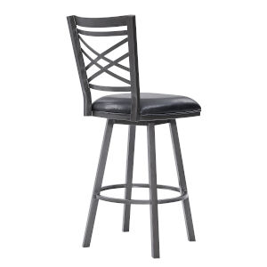 Fargo Black 26-Inch Counter Stool
