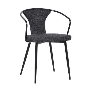 Francis Black Powder Coat Dining Chair