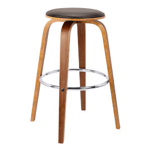 Harbor Brown and Walnut 25-Inch Counter Stool