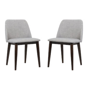 Horizon Light Gray with Brown Dining Chair, Set of Two