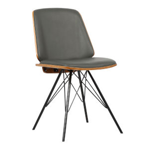 Inez Gray with Black Powder Coat Dining Chair