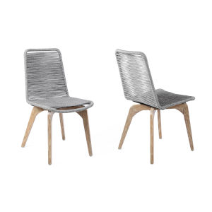 Island Light Eucalyptus Outdoor Dining Chair, Set of Two