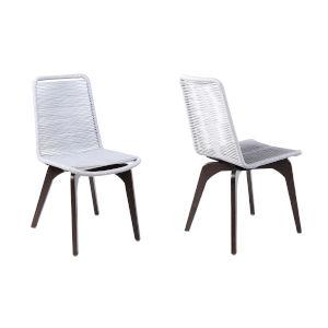 Island Dark Eucalyptus Outdoor Dining Chair, Set of Two