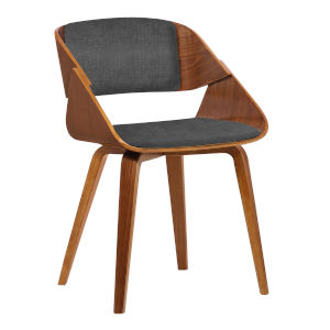 Ivy Charcoal with Walnut Dining Chair