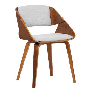 Ivy Gray with Walnut Dining Chair