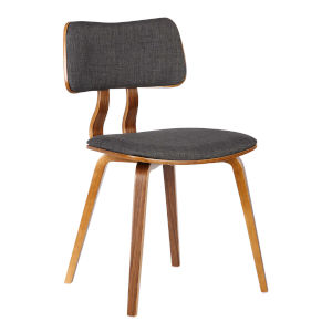 Jaguar Charcoal with Walnut Dining Chair