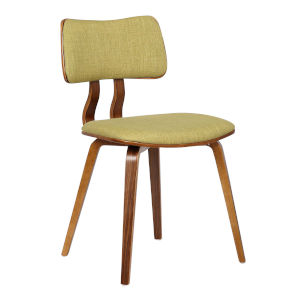 Jaguar Green with Walnut Dining Chair