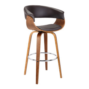 Julyssa Brown and Walnut 27-Inch Counter Stool