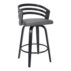 Jayden Black and Gray 26-Inch Counter Stool