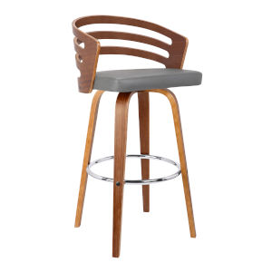 Jayden Gray and Walnut 26-Inch Counter Stool