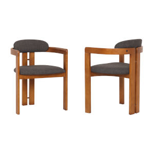 Jazmin Charcoal with Walnut Dining Chair, Set of Two