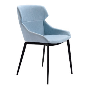 Kenna Blue with Matte Black Dining Chair, Set of Two