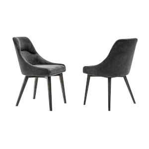 Lileth Tundra Gray Charcoal Dining Chair, Set of Two