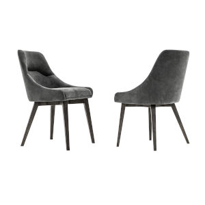 Lileth Tundra Gray Dining Chair, Set of Two