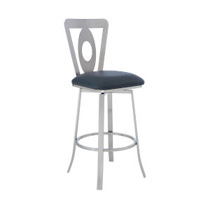 Lola Gray and Stainless Steel 26-Inch Counter Stool