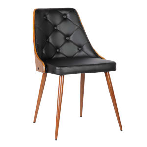 Lily Black with Walnut Dining Chair
