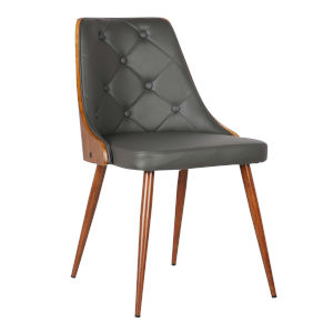 Lily Gray with Walnut Dining Chair