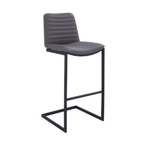 Lucas Black and Gray 25-Inch Counter Stool