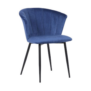 Lulu Blue with Black Powder Coat Dining Chair