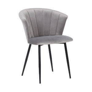 Lulu Gray with Black Powder Coat Dining Chair