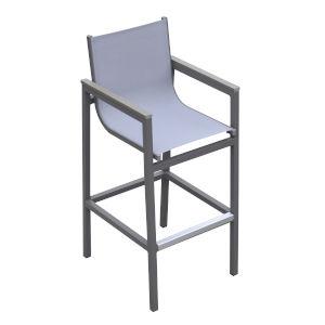 Marina Gray Outdoor Patio Barstool