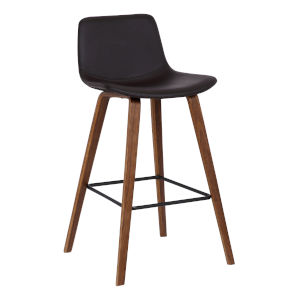 Maddie Walnut and Brown 26-Inch Counter Stool