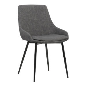 Mia Charcoal with Black Powder Coat Dining Chair