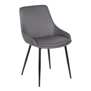 Mia Gray with Black Powder Coat Dining Chair