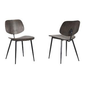 Miki Walnut with Black Powder Coat Dining Chair