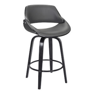 Mona Black and Gray 26-Inch Counter Stool