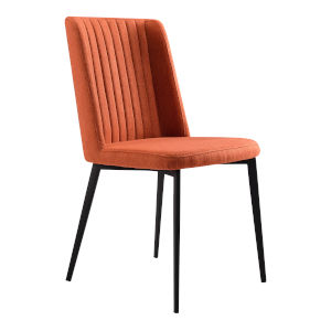 Maine Orange with Matte Black Dining Chair, Set of Two
