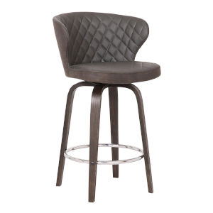 Mynette Brown and Chrome 26-Inch Counter Stool