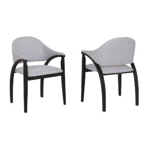 Meadow Gray with Black Dining Chair, Set of Two