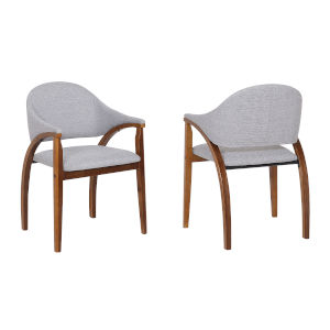 Meadow Gray with Walnut Dining Chair, Set of Two