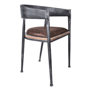 Macey Brown with Industrial Gray Dining Chair, Set of Two